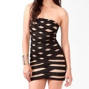 Forever 21 bandage mini dress